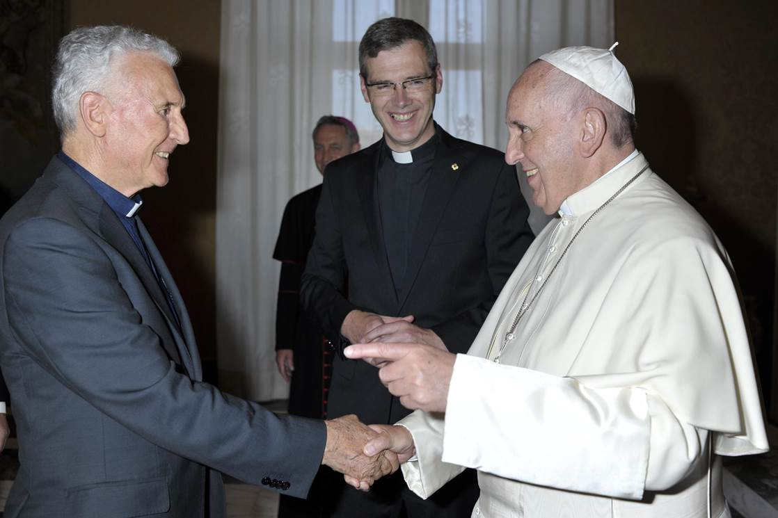 Pope Francis Meets with SCJs